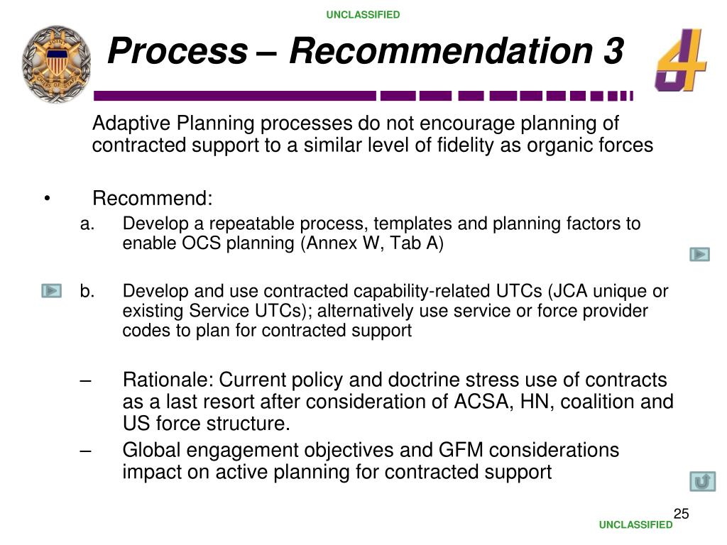 Process – Recommendation 3