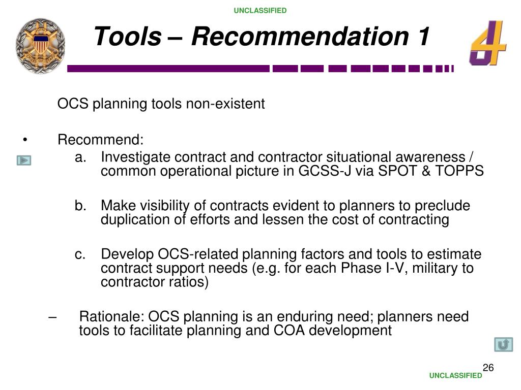 Tools – Recommendation 1