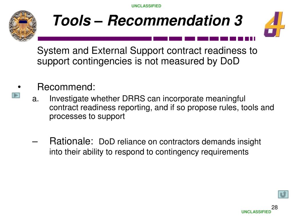Tools – Recommendation 3