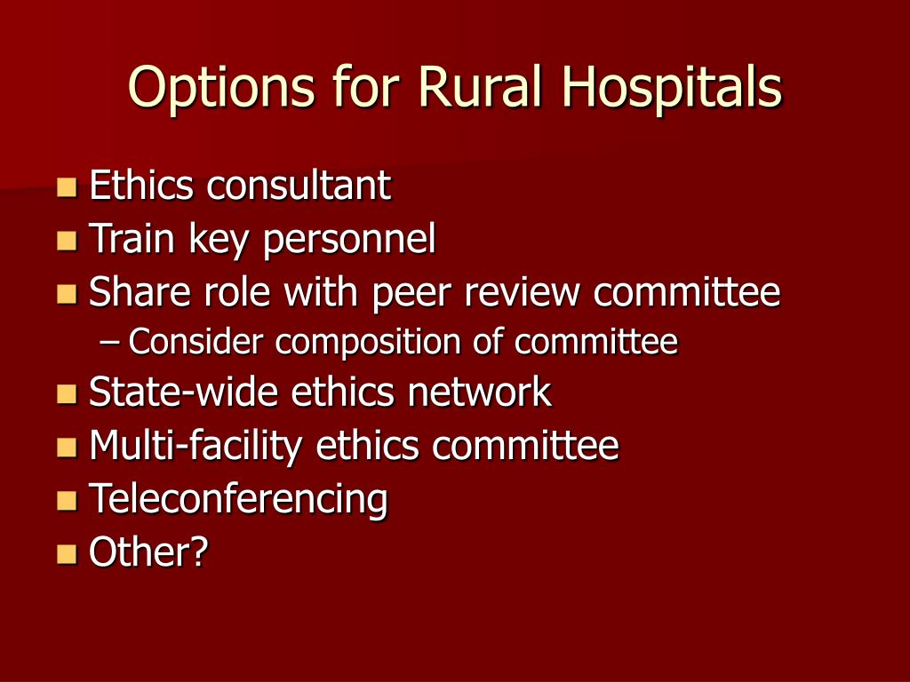 Options for Rural Hospitals