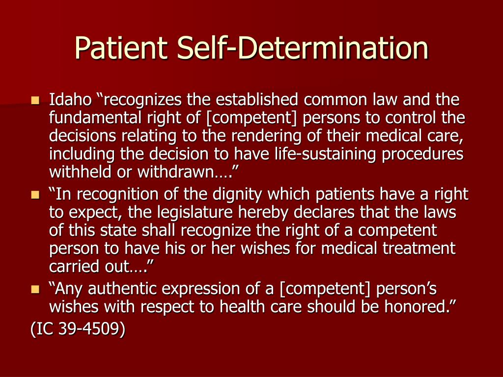 Patient Self-Determination