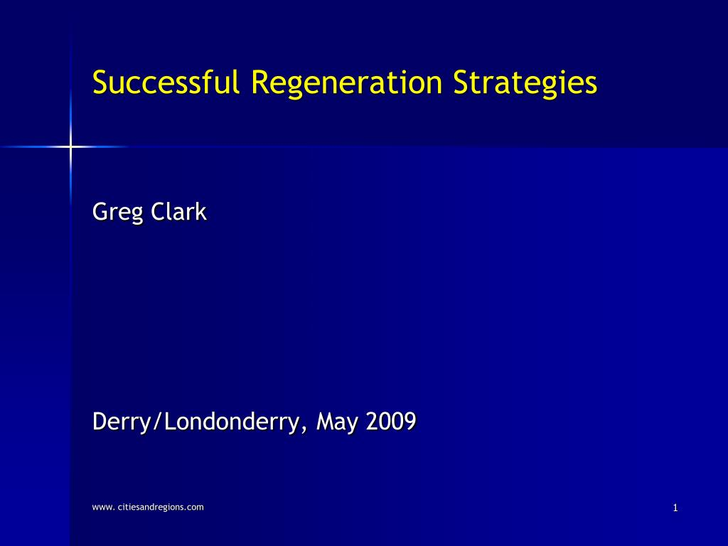 successful regeneration strategies