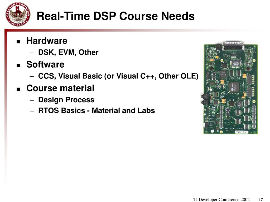 PPT - Real-Time DSP System Design Course and DSP/BIOS II