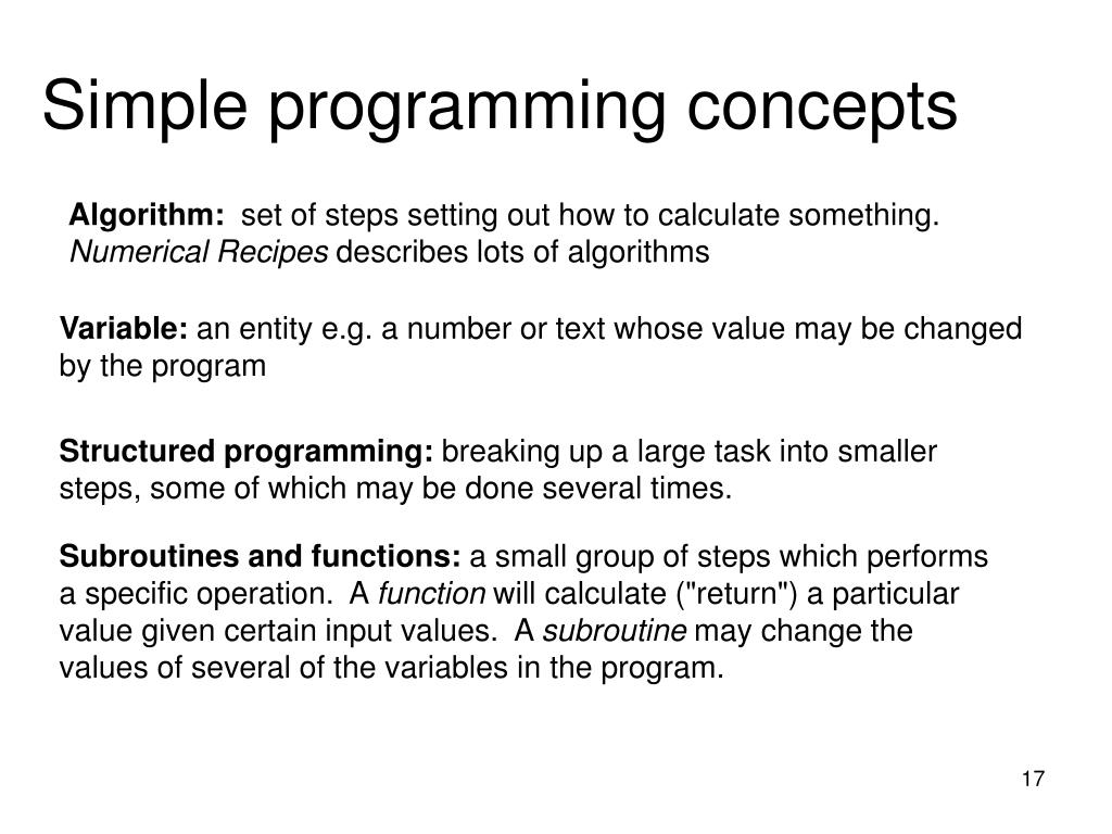 Simple programming concepts