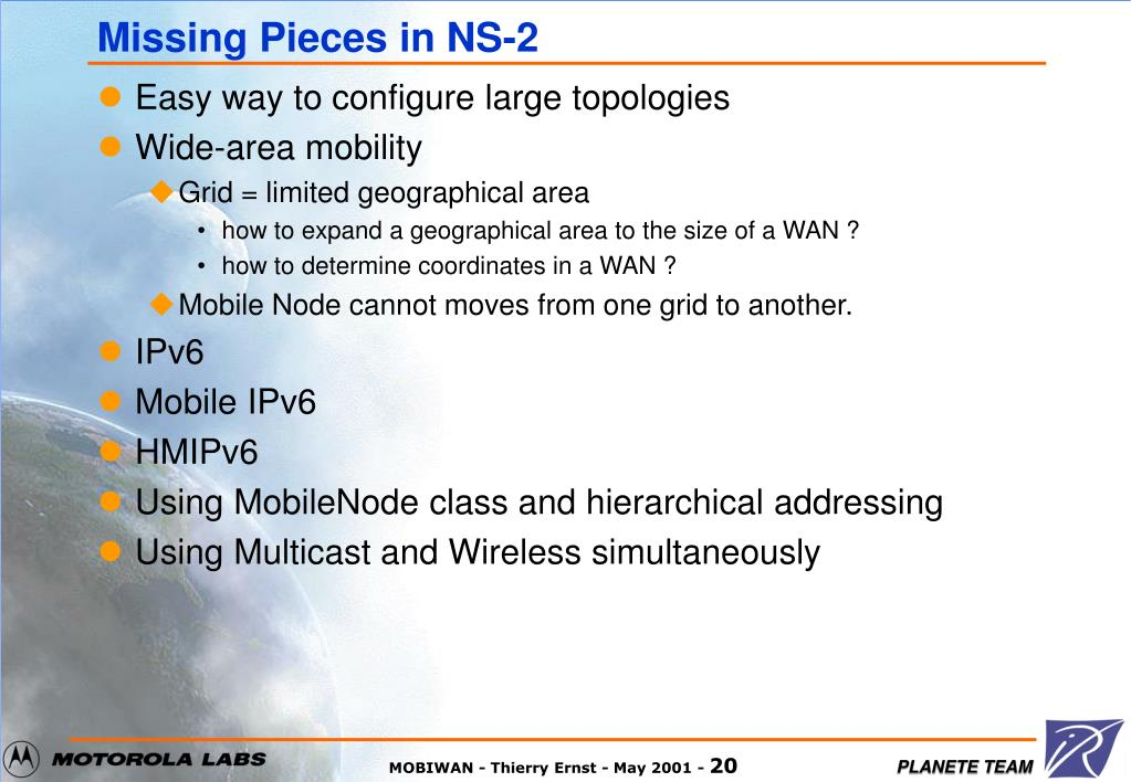 Missing Pieces in NS-2