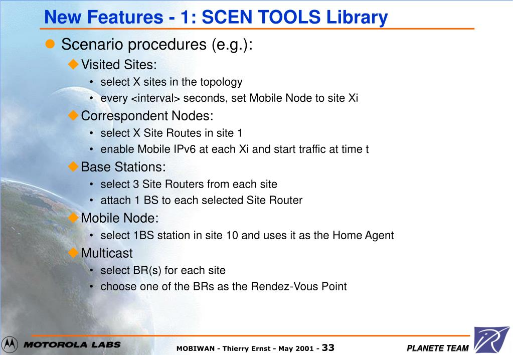 New Features - 1: SCEN TOOLS Library