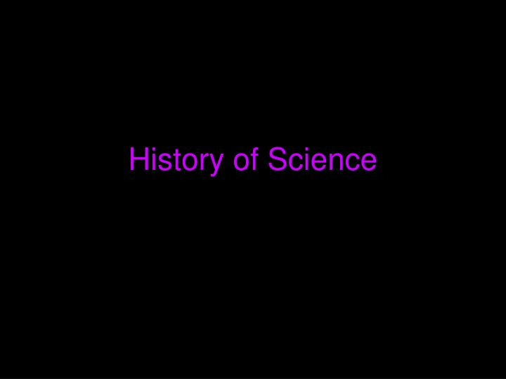 History of science