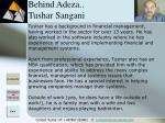 behind adeza tushar sangani