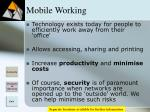 mobile working