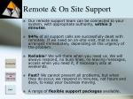 remote on site support