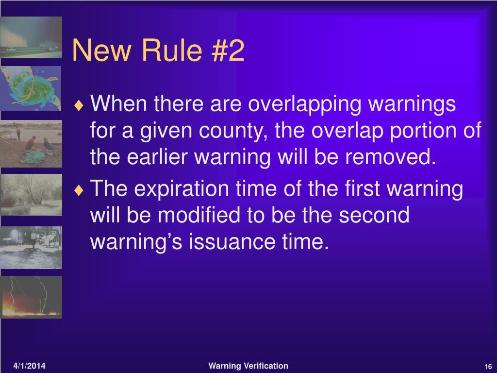 New Rule #2