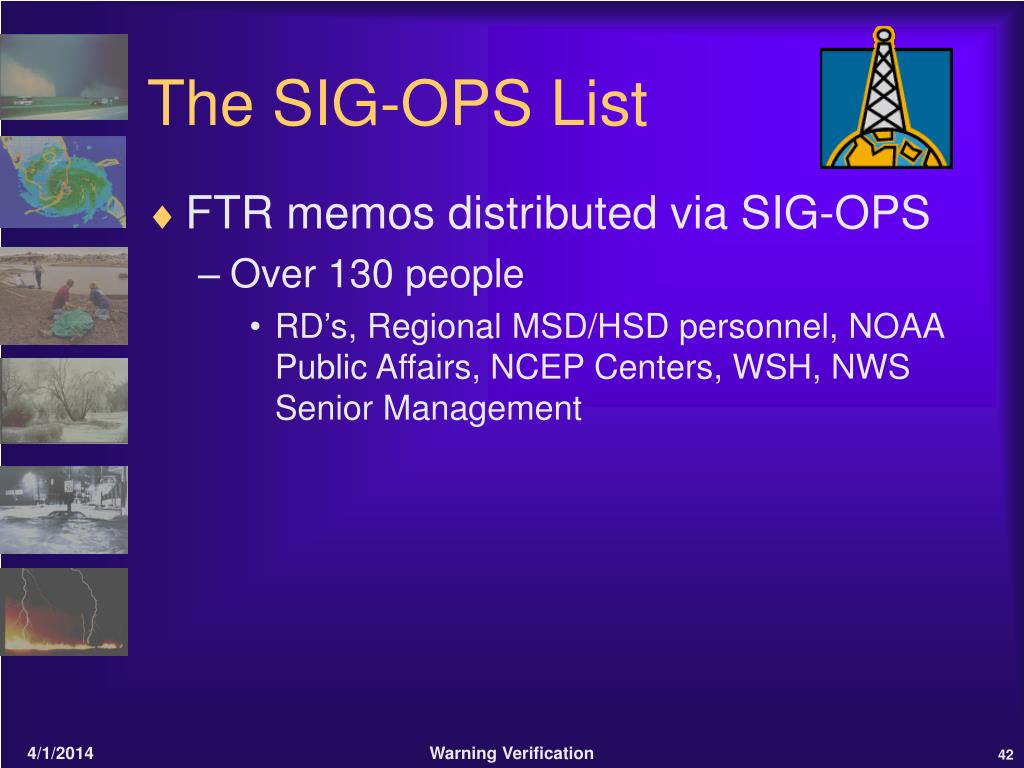 The SIG-OPS List