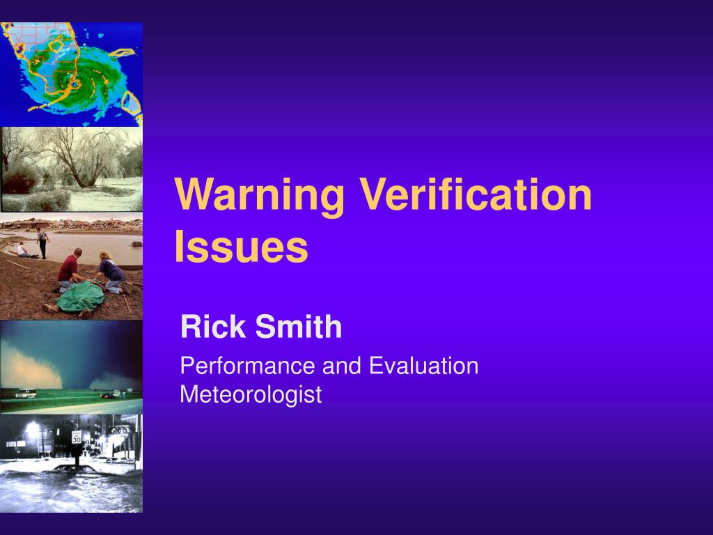Warning Verification Issues