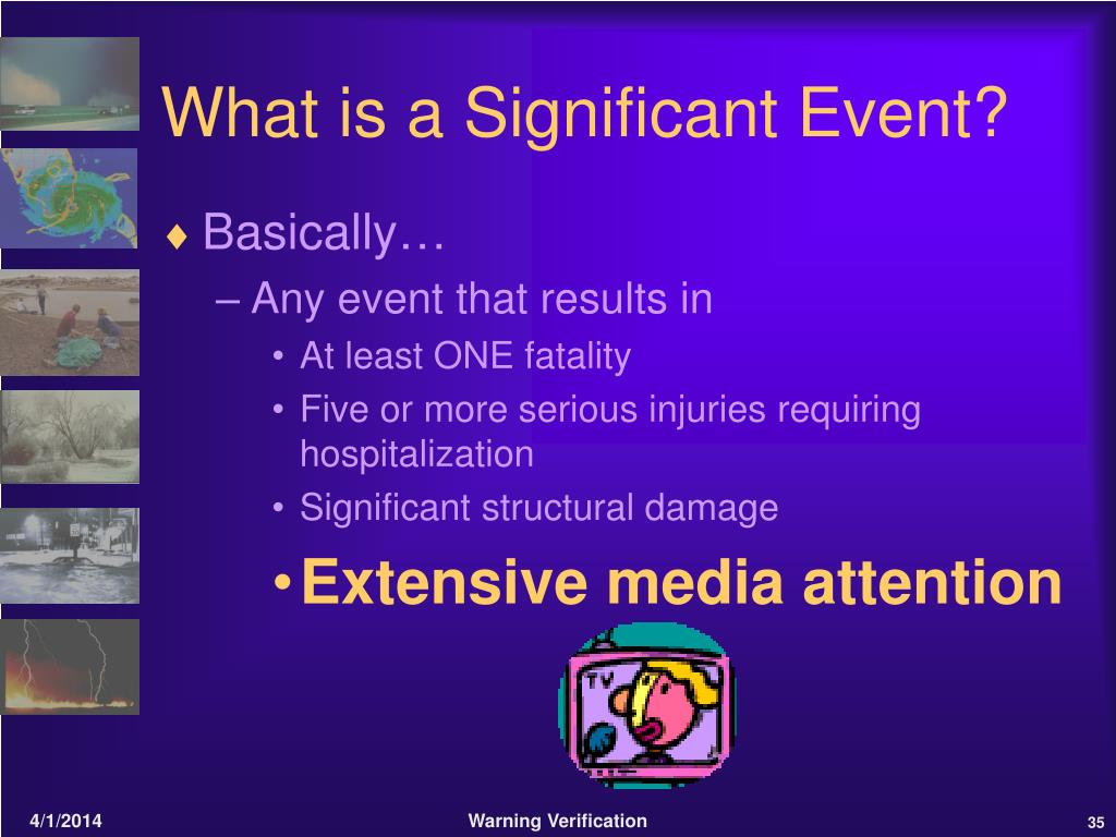 What is a Significant Event?