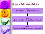 science education reform