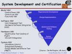system development and certification