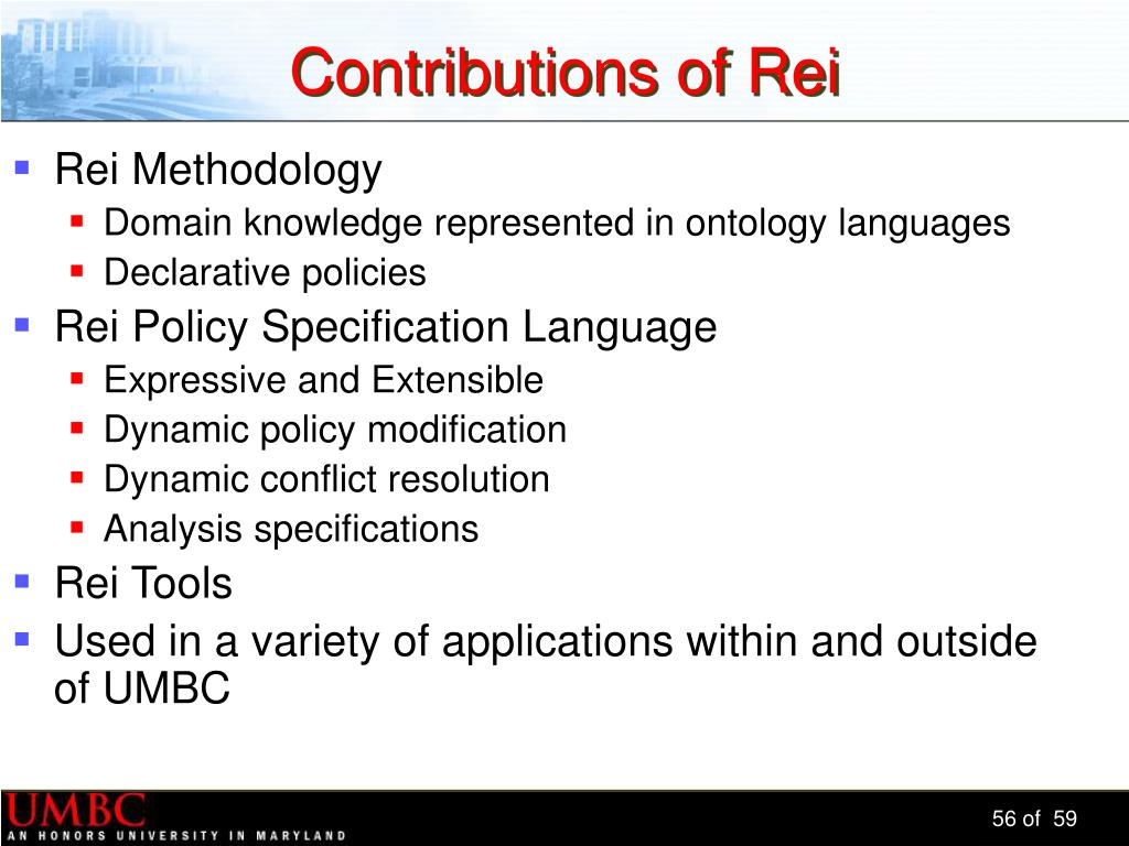 Contributions of Rei
