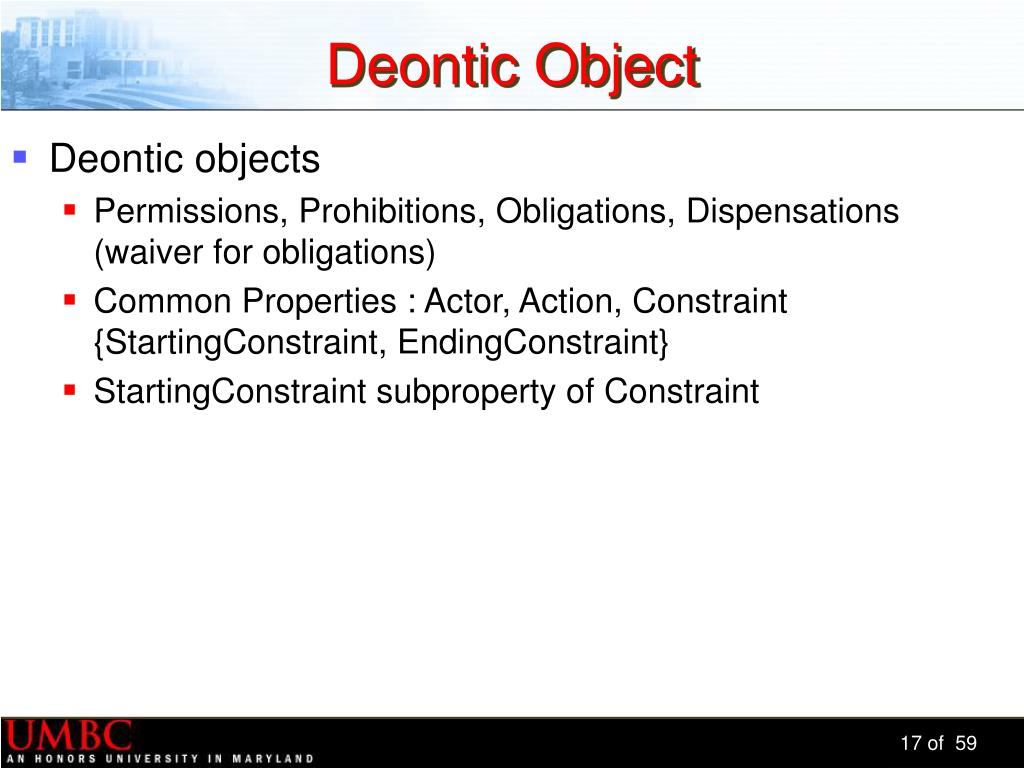 Deontic Object
