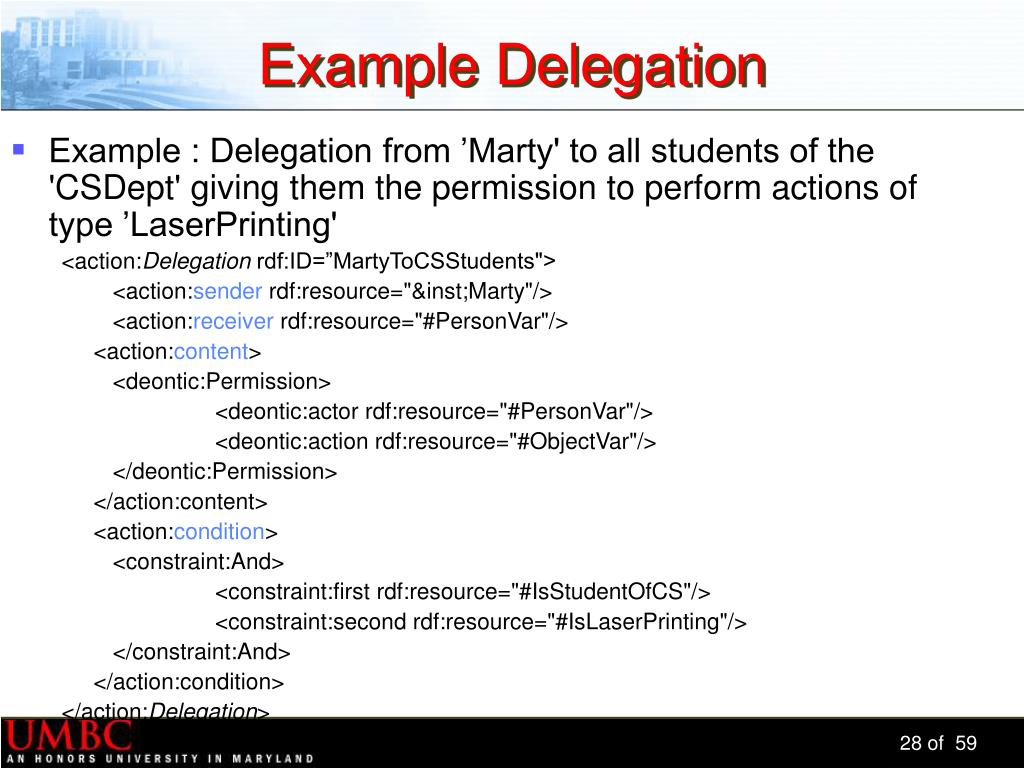 Example Delegation
