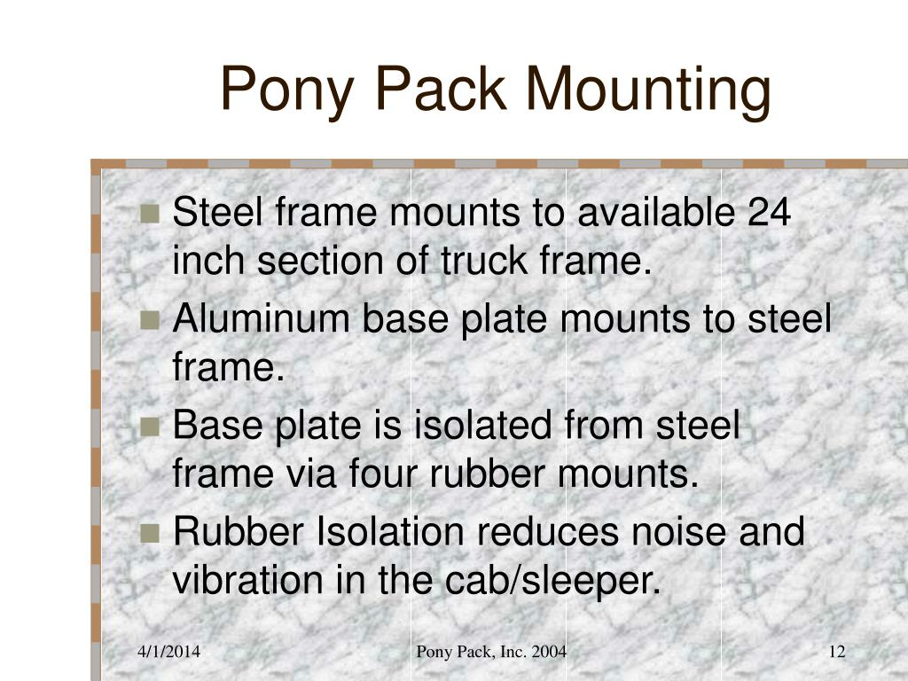 Pony Pack Mounting