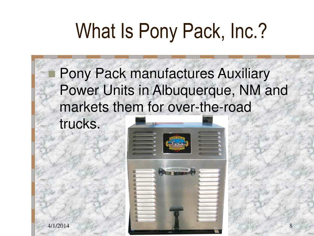 What Is Pony Pack, Inc.?