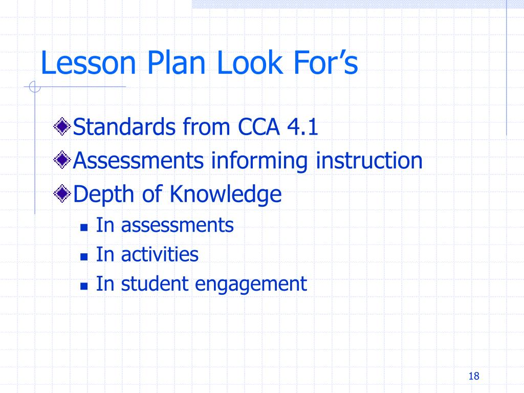 Lesson Plan Look For's