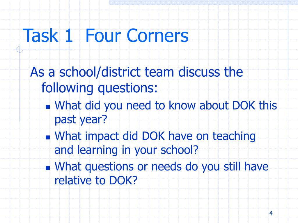 Task 1  Four Corners