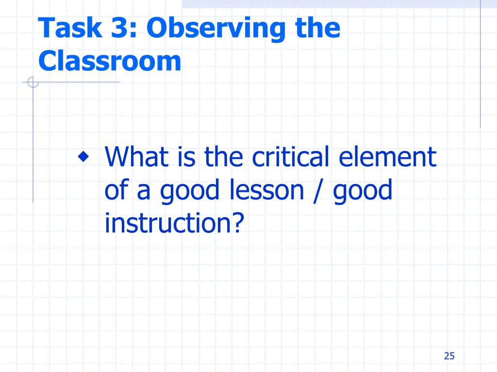 Task 3: Observing the Classroom