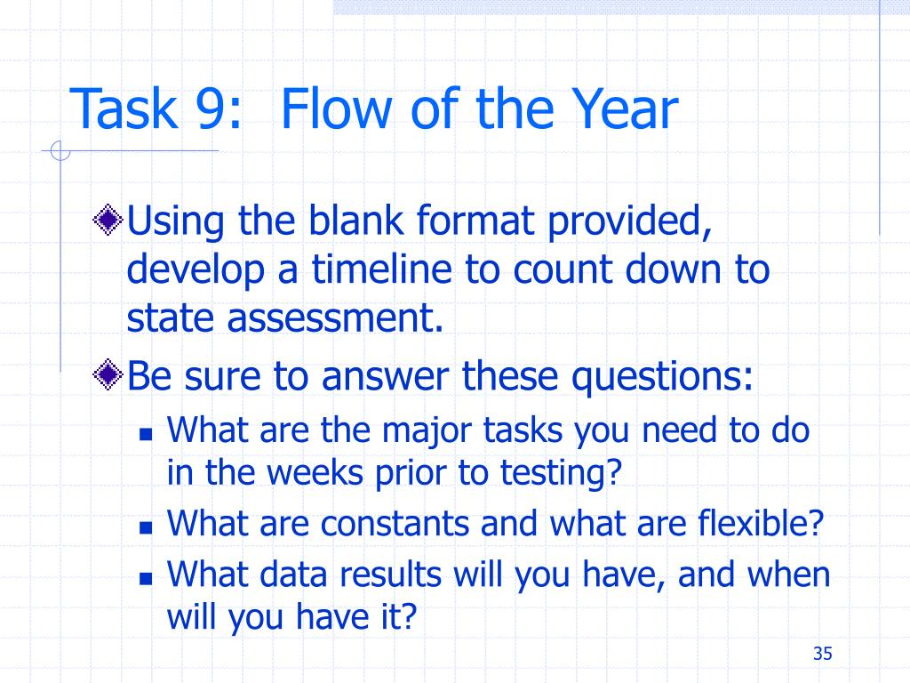 Task 9:  Flow of the Year