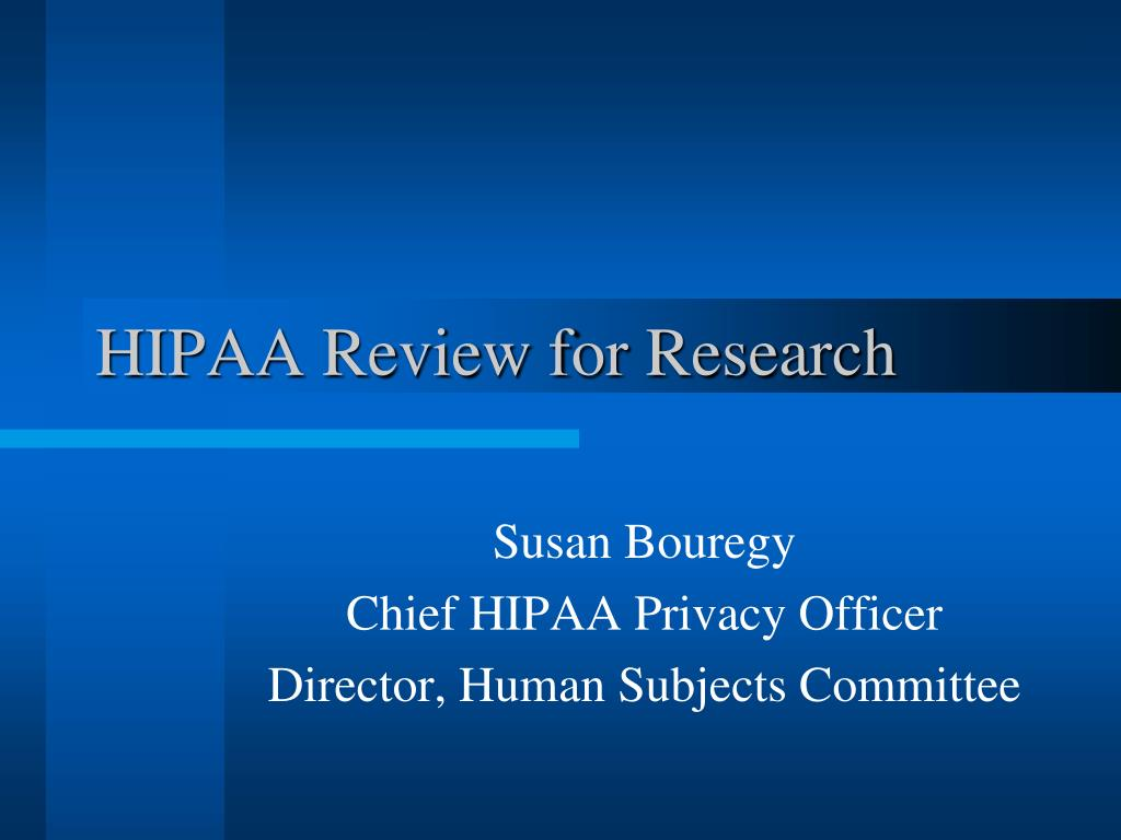 hipaa review for research l.