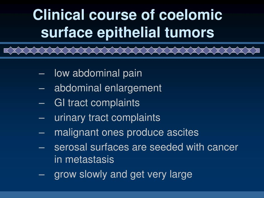 Clinical course of coelomic surface epithelial tumors