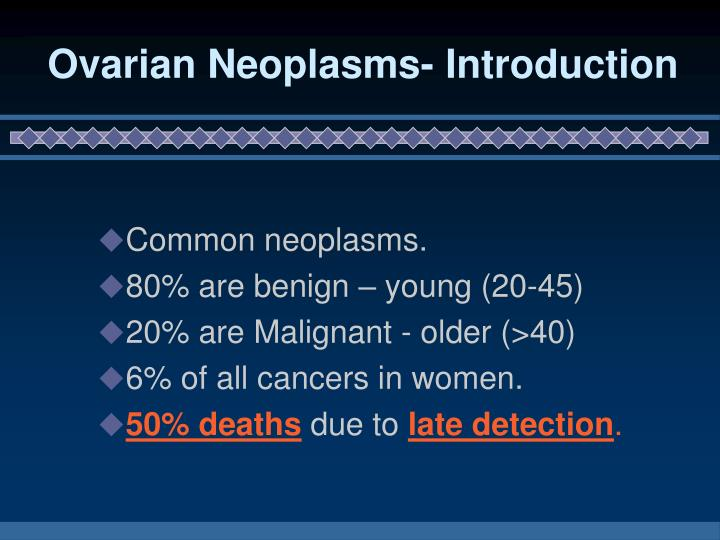 Ovarian neoplasms introduction