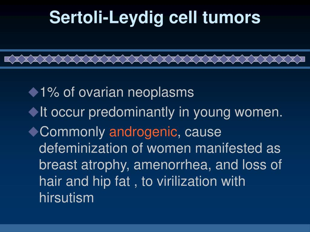 Sertoli-Leydig cell tumors