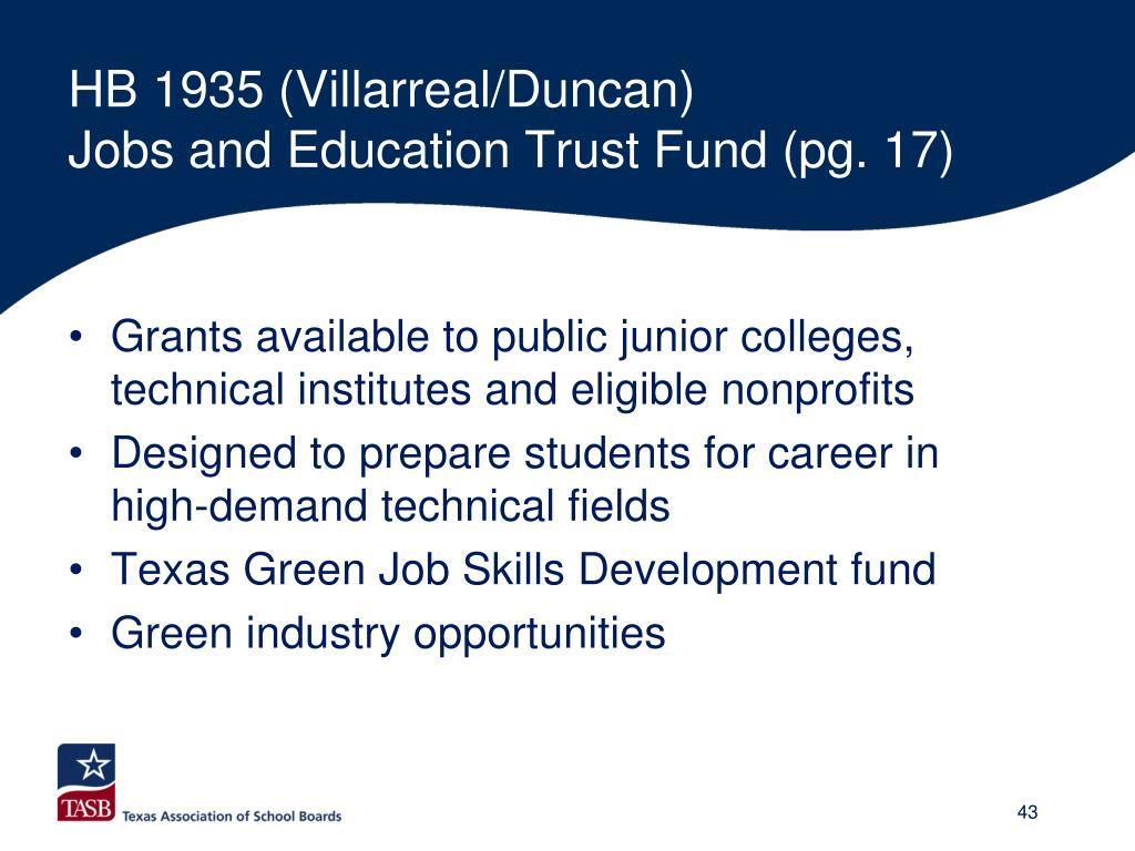 HB 1935 (Villarreal/Duncan)