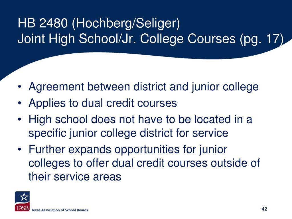 HB 2480 (Hochberg/Seliger)