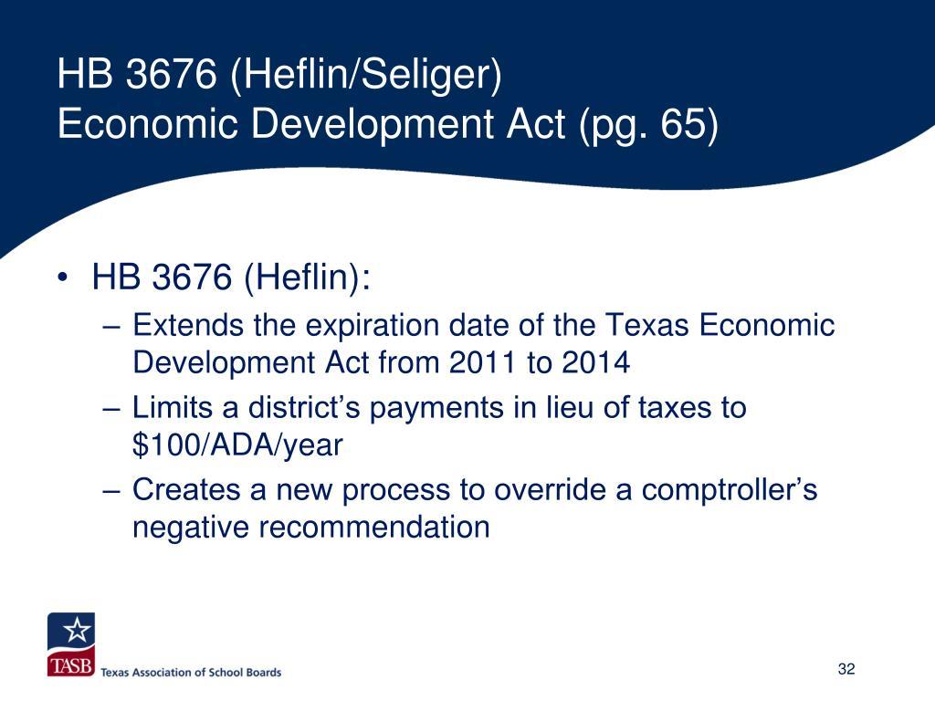HB 3676 (Heflin/Seliger)