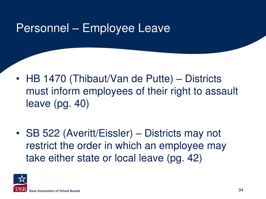 Personnel – Employee Leave