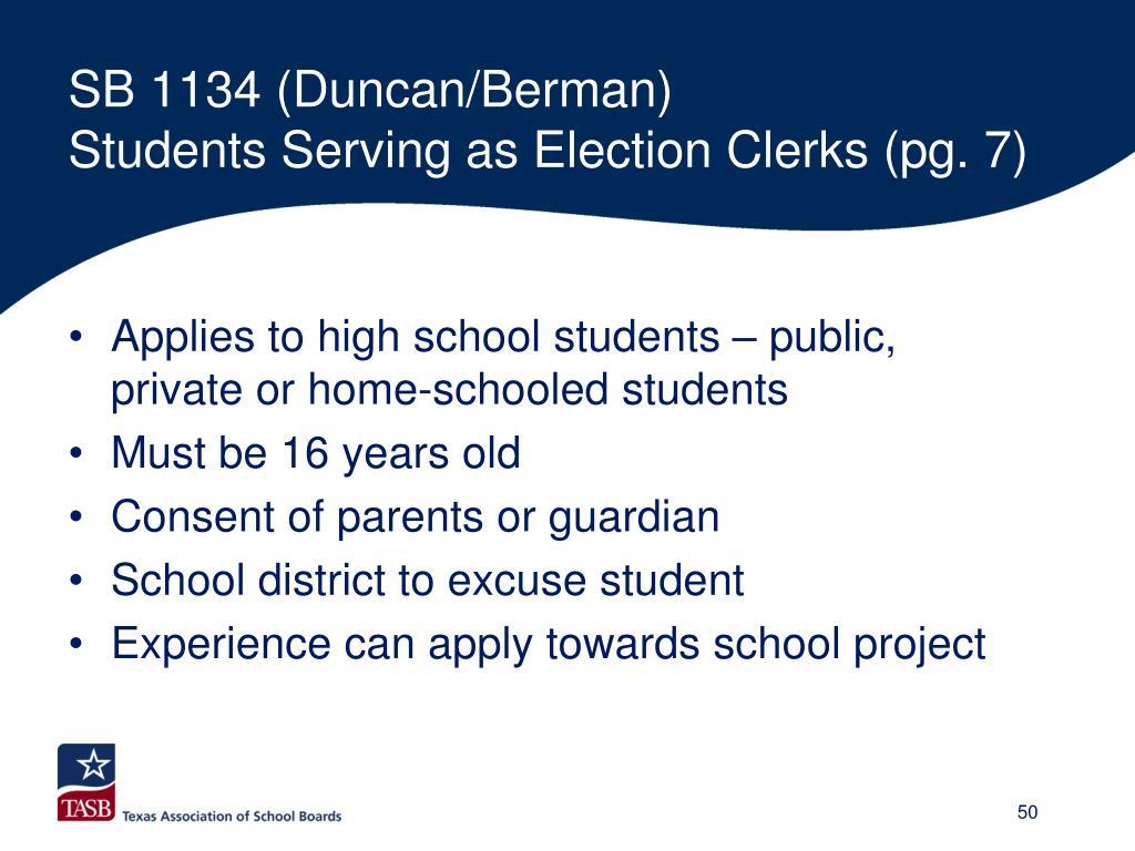 SB 1134 (Duncan/Berman)