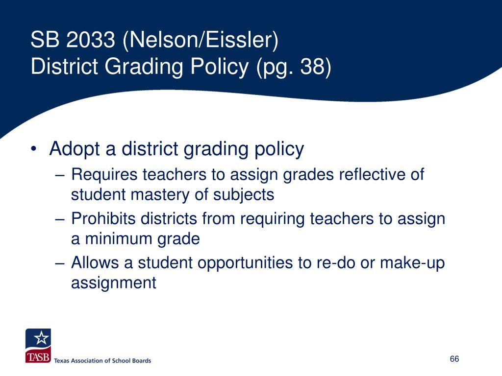 SB 2033 (Nelson/Eissler)