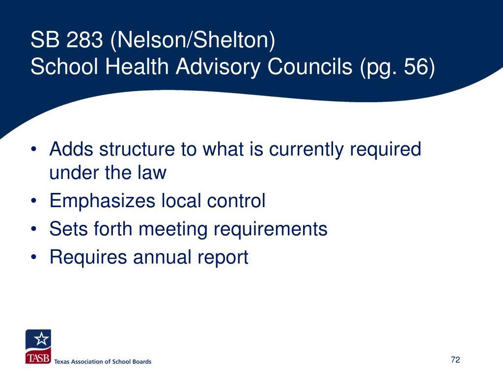 SB 283 (Nelson/Shelton)