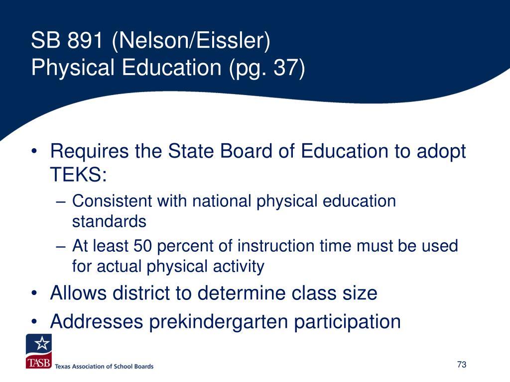 SB 891 (Nelson/Eissler)