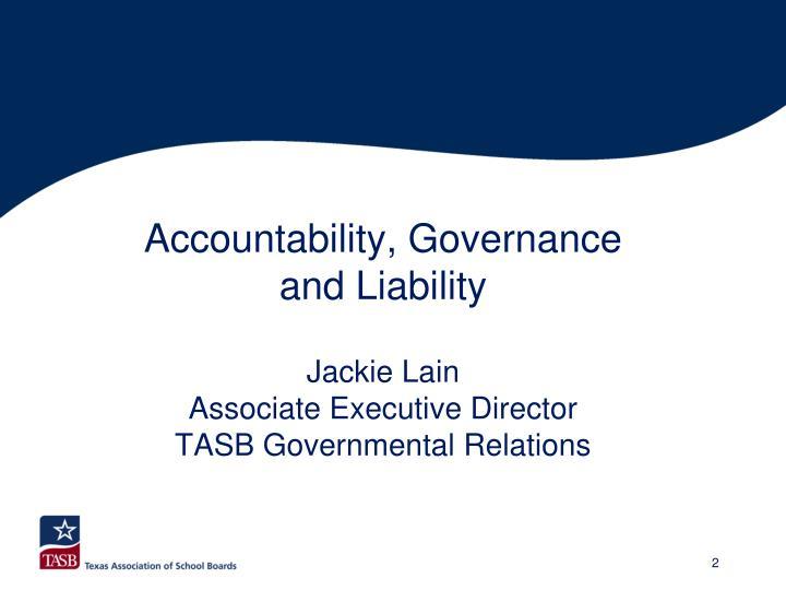 Accountability, Governance