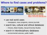 where to find cases and problems