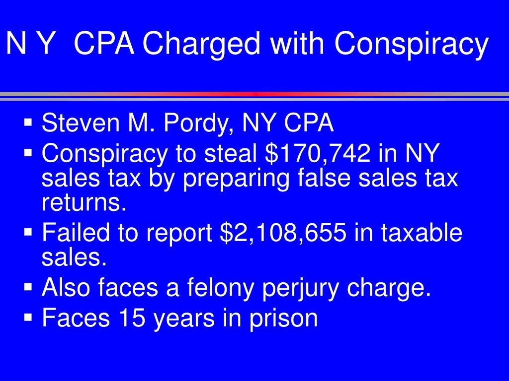 N Y  CPA Charged with Conspiracy