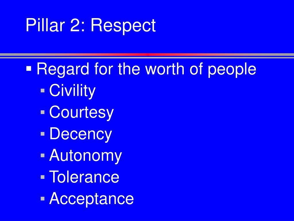 Pillar 2: Respect