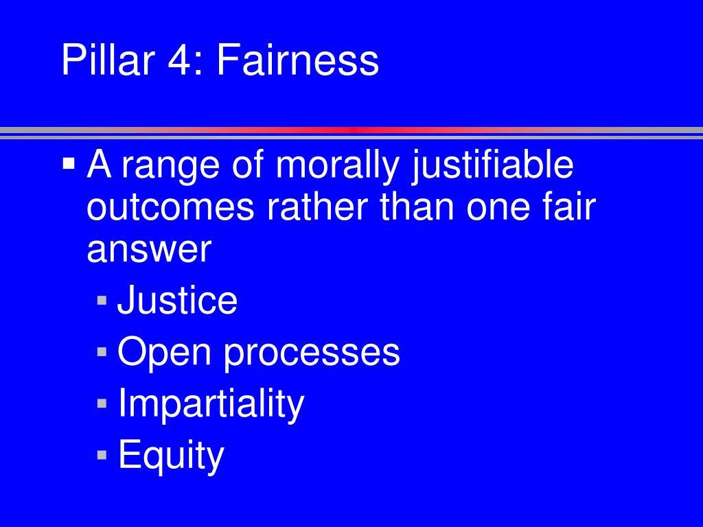 Pillar 4: Fairness