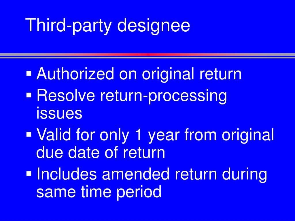 Third-party designee
