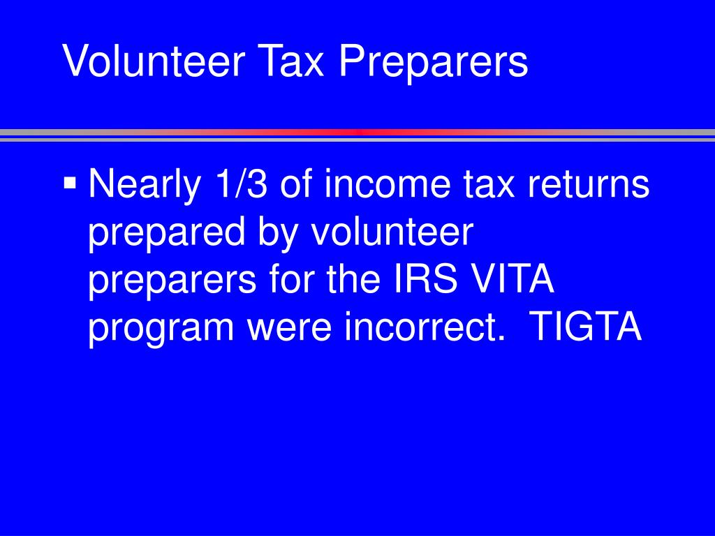 Volunteer Tax Preparers