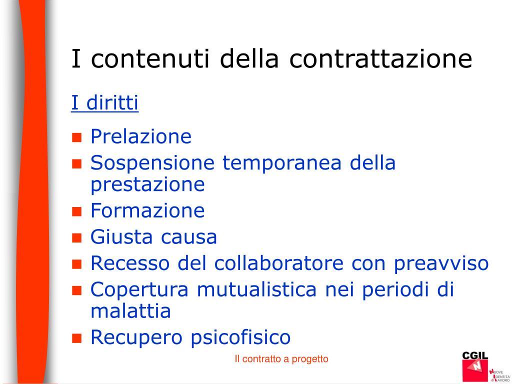 I contenuti della contrattazione