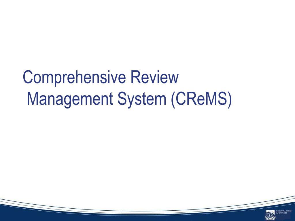 Comprehensive Review